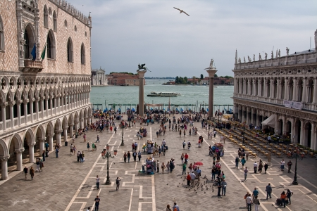 Panorama view on San Marco Square in Venice
