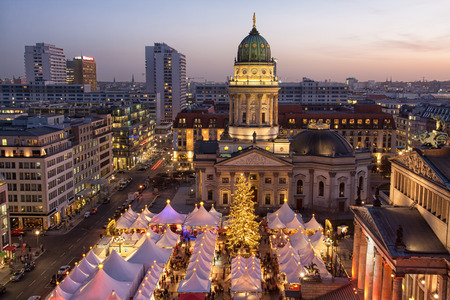 View of Berlin Christmas market