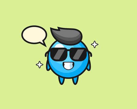 Gum ball cartoon with cool gesture, cute style mascot character for t shirt, sticker design, logo element