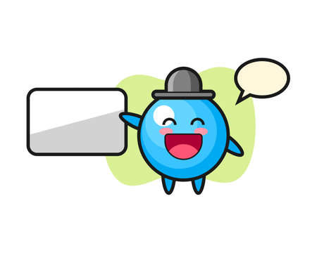 Gum ball cartoon doing a presentation, cute style mascot character for t shirt, sticker design, logo element  イラスト・ベクター素材