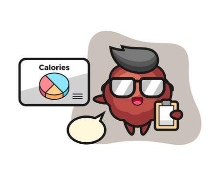 Meatball cartoon as a dietitian, cute style mascot character for t shirt, sticker design, logo element Logo