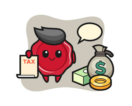 Character cartoon of sealing wax as a accountant, cute style design for t shirt, sticker, logo element