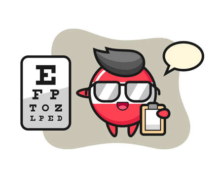 Illustration of austria flag badge mascot as a ophthalmology, cute style design for t shirt, sticker element Illustration