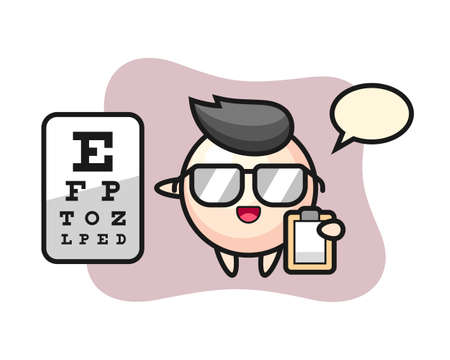 Illustration of pearl mascot as a ophthalmology, cute style design for t shirt, sticker, logo element