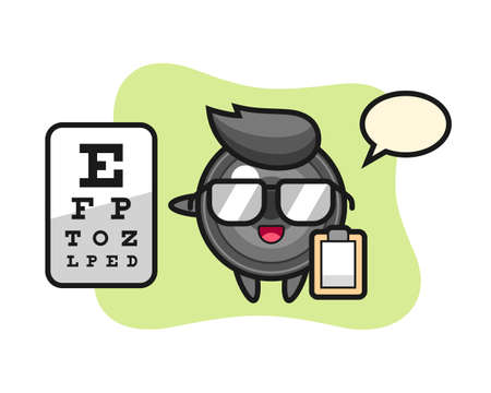 Illustration of camera lens mascot as a ophthalmology, cute style design for t shirt, sticker, logo element