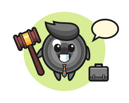 Illustration of camera lens mascot as a lawyer, cute style design for t shirt, sticker, logo element 向量圖像