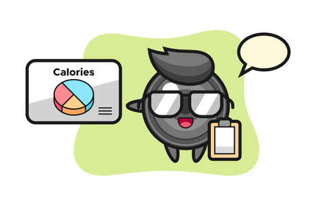 Illustration of camera lens mascot as a dietitian, cute style design for t shirt, sticker, logo element