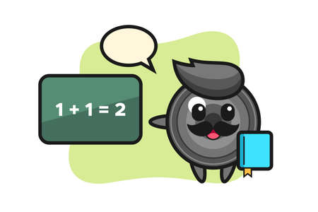 Illustration of camera lens character as a teacher, cute style design for t shirt, sticker, logo element