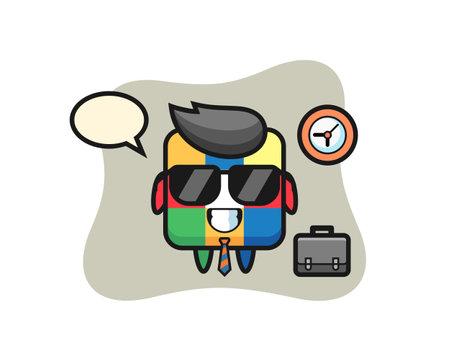 Rubik cube, cute style design for t shirt, sticker, logo element