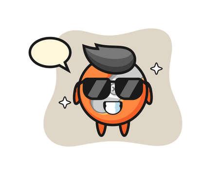 Cartoon mascot of pencil sharpener with cool gesture Vector Illustratie