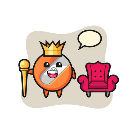 Mascot cartoon of pencil sharpener as a king