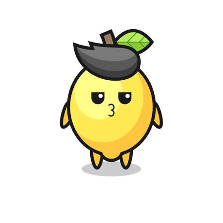 the bored expression of cute lemon characters , cute style design for t shirt, sticker, element