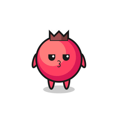 the bored expression of cute cranberry characters , cute style design for t shirt, sticker, logo element ЛОГОТИПЫ
