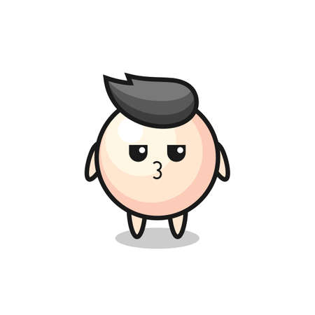 the bored expression of cute pearl characters , cute style design for t shirt, sticker, element