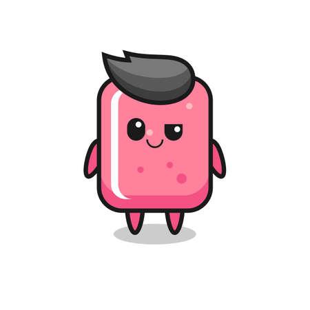 bubble gum cartoon with an arrogant expression , cute style design for t shirt, sticker, logo element