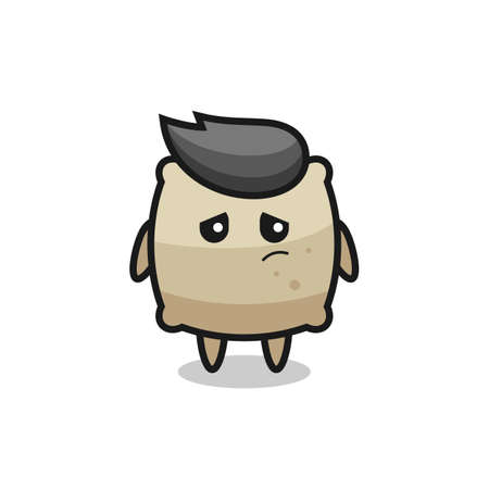 the lazy gesture of sack cartoon character , cute style design for t shirt, sticker, element Векторная Иллюстрация