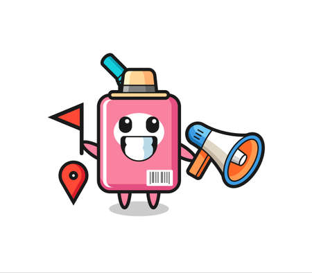 Character cartoon of milk box as a tour guide , cute style design for t shirt, sticker, logo element