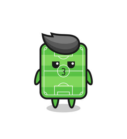 the bored expression of cute football field characters , cute style design for t shirt, sticker, logo element