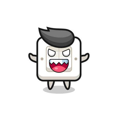 illustration of evil light switch mascot character , cute style design for t shirt, sticker, logo element Logo