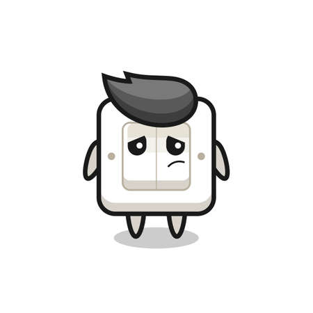 the lazy gesture of light switch cartoon character , cute style design for t shirt, sticker, logo element Logo