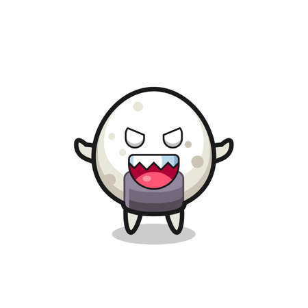 illustration of evil onigiri mascot character , cute style design for t shirt, sticker, logo element