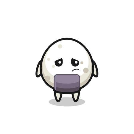 the lazy gesture of onigiri cartoon character , cute style design for t shirt, sticker, logo element Logo