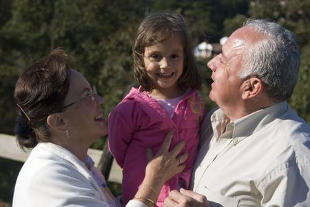 Grandparents and granddaughter enjoy together Stock Photo - 3535053