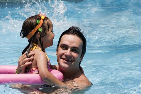 Father and daughter in Swimming pool Stock Photo - 5307822