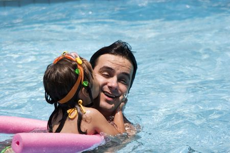 Father and daughter in Swimming pool Stock Photo - 5307821