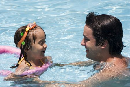 Father and daughter in Swimming pool Stock Photo - 5307823
