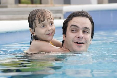 Father and daughter in the swimming pool Stock Photo - 5285372