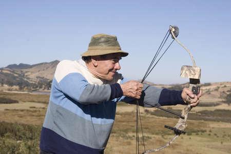 Portrait of senior man having fun outdoor