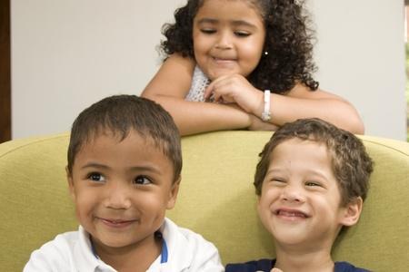Three Happy Children Playing photo