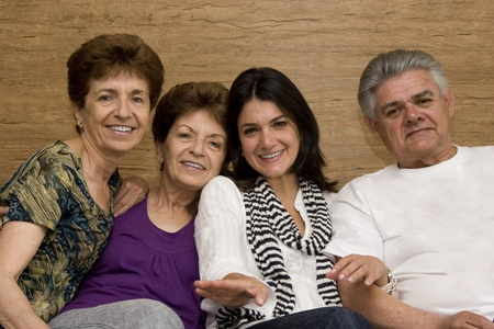 Family enjoying with her mature Mother Father and Aunt Stock Photo - 10909726