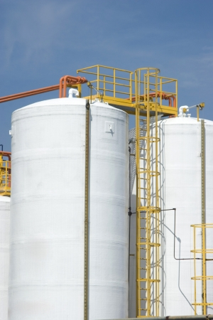chemical substance: Chemical Industry, Storage Tank In Industrial Plant Stock Photo