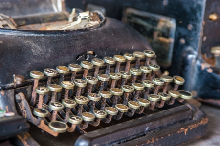 Old Vintage Typewriter, Keys In Bad Condition Stock Photo - 16247411
