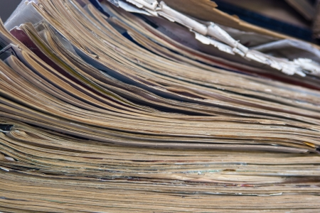 Stack Of Grunge Papers Indoors Stock Photo - 16247418