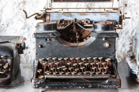 Old Vintage Typewriter, Keys In Bad Condition Stock Photo - 16402461