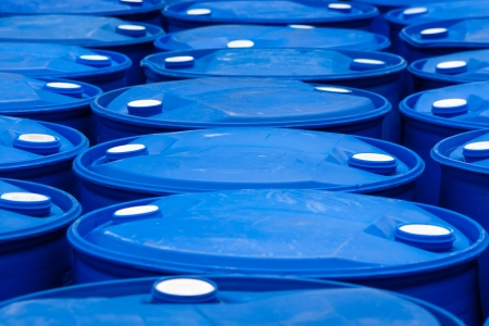 Chemical Plant, Plastic Storage Drums photo