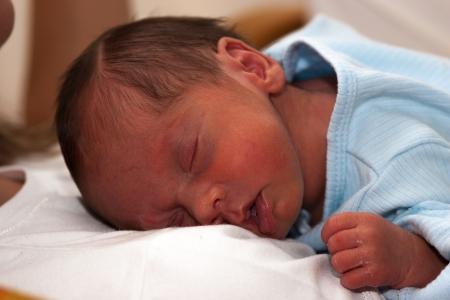neonatal: Portrait of a Sweet Newborn Baby Boy Sleeping