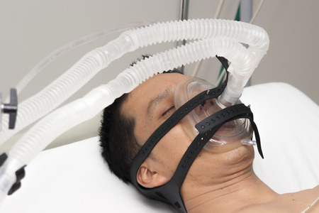 hospital patient: Patient receives anaesthetic in hospital Stock Photo