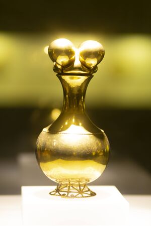 The Poporo Quimbaya Made of Gold (The Gold Museum, Bogotá, Colombia)