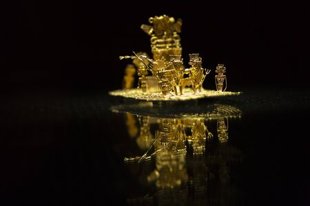 The legend of El Dorado Made of Gold, The Gold Museum, Bogot?, Colombia Stockfoto