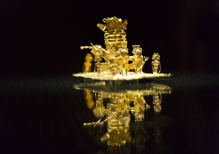 The legend of El Dorado Made of Gold, The Gold Museum, Bogot?, Colombia Фото со стока