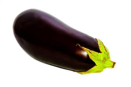 Image of a big aubergine with white background