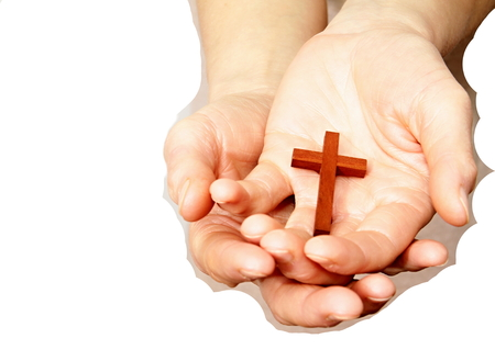 hand with cross