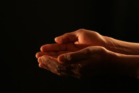 praying hands in church Stok Fotoğraf