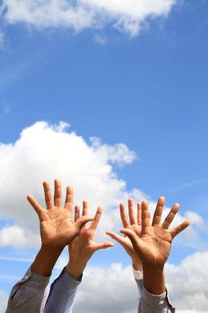 hand gesture showing willingness stock photo Banco de Imagens