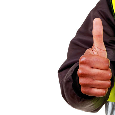 hand gesture showing willingness stock photo