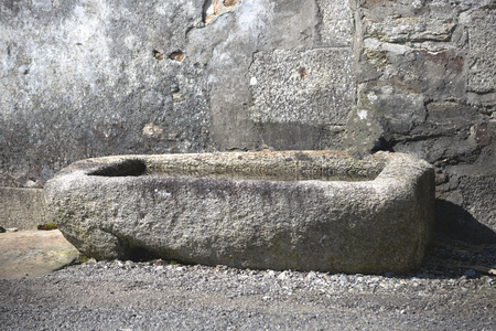 Old stone drinking trough.